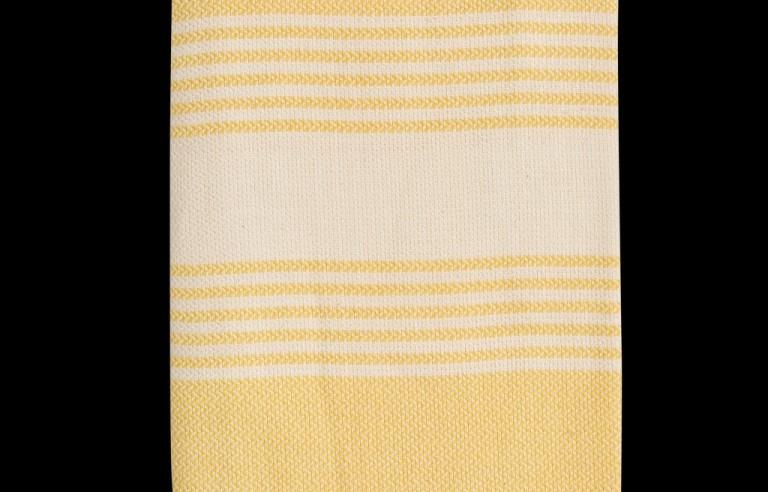 Sárga színű szaunatörölköző